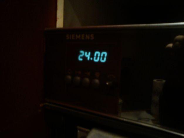 24h00 sur l'horloge