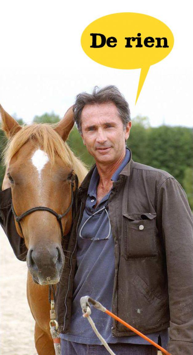 Thierry Lhermitte le cheval c'est trop génial !