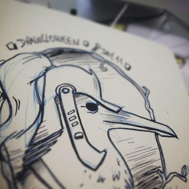 Croquis Drawlloween #11 - Raven