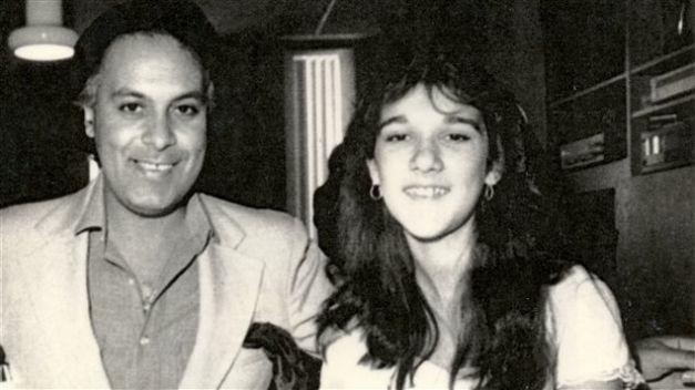 René Angélil et Céline Dion jeunes