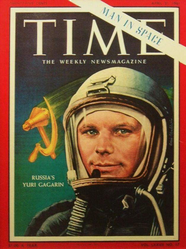 Youri Gagarine en couverture du Times