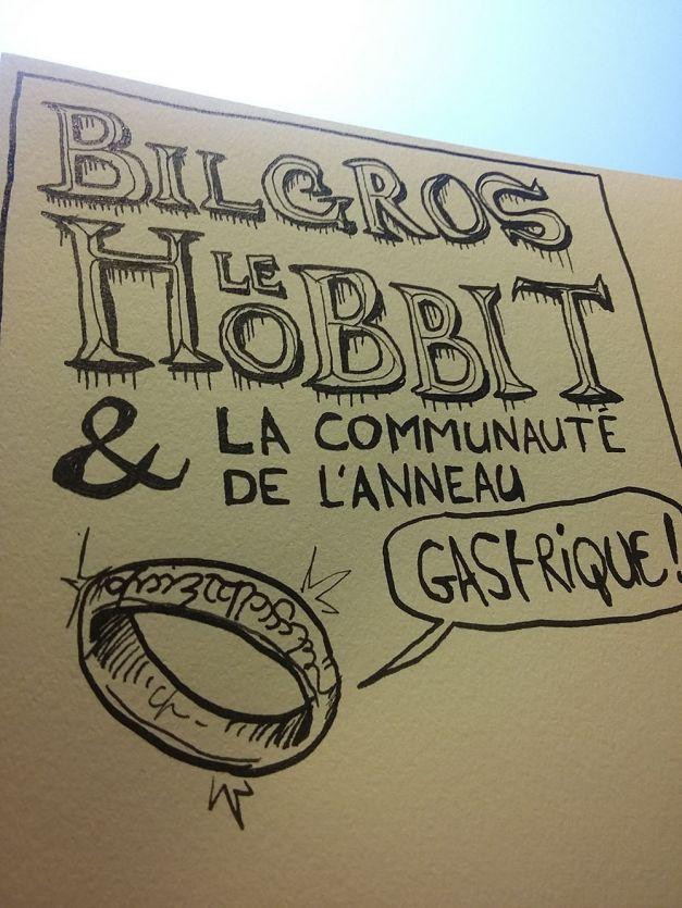 Bilgros le Hobbit et la communauté de l'anneau gastrique WIP encrage 01