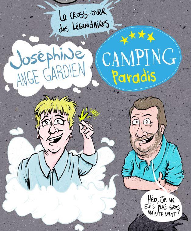 Cross over Joséphine ange gardien et Camping Paradis 07