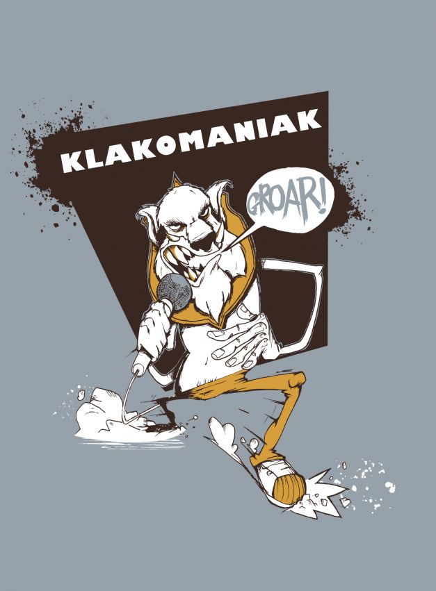 T-shirt Klakomaniak visuel
