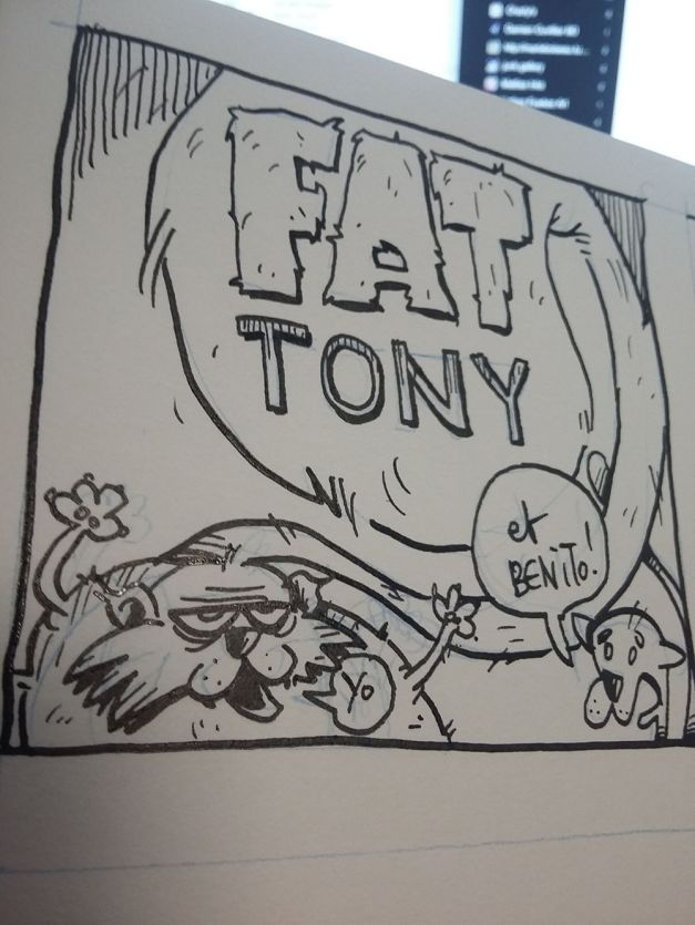 Fat Tony et Bénito 04 - Beignet de plage WIP encrage
